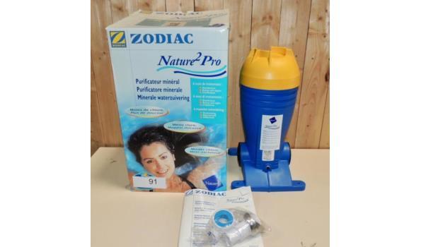 Minerale waterzuivering voor opzet zwembad fabr.Zodiac type Nature 2 Pro. Zonder patroon