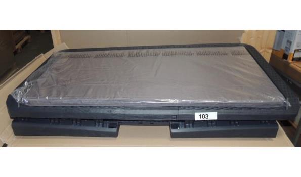 Opbergbox fabr. Toomax type Santorini Plus. Afm. 148x72x64-inhoud 560ltr. Licht beschadigd