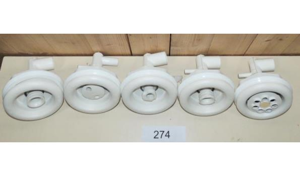 5 x Jet voor Jacuzzi fabr. Dimension one Spa's