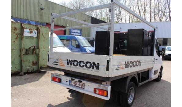 open lichte vrachtwagen NISSAN NV400, diesel, 2299cm³, 107kW, 1e inschr 06/04/2018, chassisnr VNVM200096042251, 47.936km, CO²-uitstoot 222g/km, EURO VI, compl met kentekenbewijs DEEL I+II, gelijkvormigheidsattest, 1sleutel, keuring tot 06/04/21,