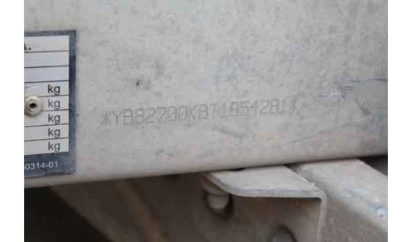 2-assige kipperaanhangwagen BW TRAILERS Q2T 2700KBV, 1e inschr 19/09/2018, chassisnr YB82700KBT1854281, MTM 2700kg, Tarra 720kg, compl met kentekenbewijs DEEL I+II, gelijkvormigheidsattest,  keuring tot 21/9/21