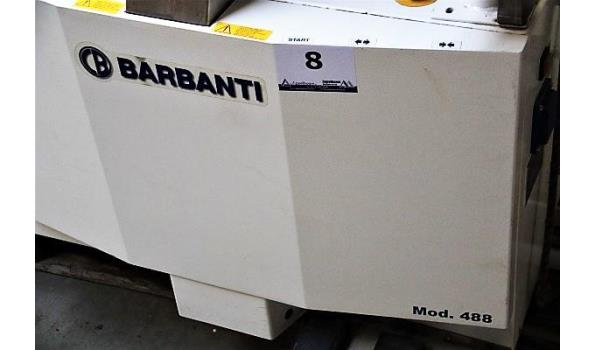 industriële hemd en stofjassen ontkreuker BARBANTI, model 488 bj 2014