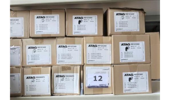 14 diverse koppelstukken ATAG