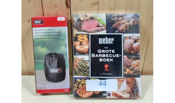 Hoes voor gasfles fabr. Weber type 3973 + Het Grote Barbecue Boek fabr. Weber