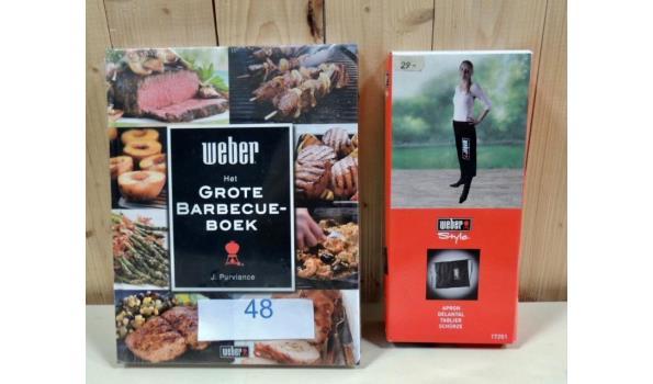 Schort fabr. Weber + Het Grote Barbecue Boek fabr. Weber