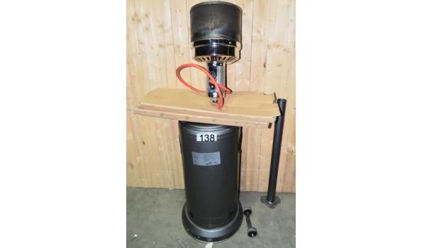 Patio heater op gas Licht beschadigd