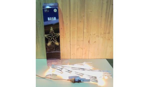 Verlichte Ster v.v. 520 LED lampjes L. 150cm. In werkende staat