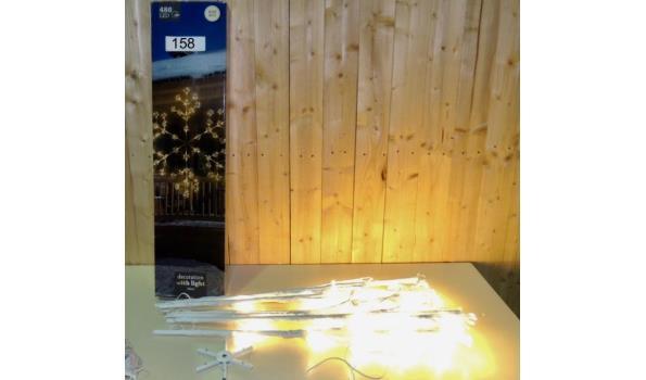 Verlichte Ijsster v.v.480 LED lampjes. Lengte 150cm. In werkende staat