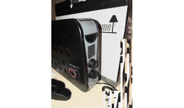 Convector heater 1250-2000W. Turboventilator-Thermostaat-Timer. Beschadigd