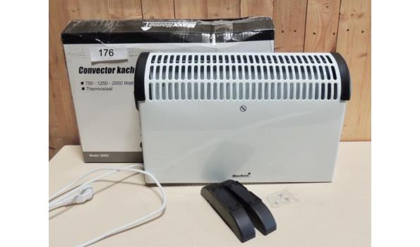 Convector heater 750-1250-2000W Licht beschadigd