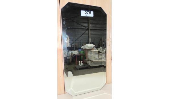Spiegel facet geslepen afm. 40x80 licht beschadigd