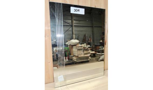 Spiegel afm 45x60 Licht beschadigd