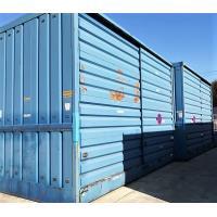 2 opslagcontainers h4m, l 5m br 2,8m, gewicht 2,5t/cont