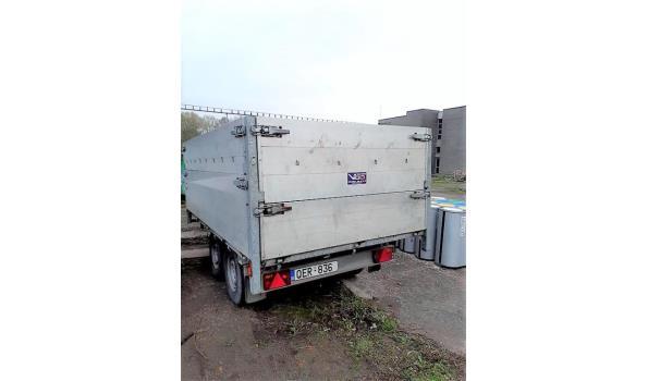 2-assige aanhangwagen JOS BAETEN, FBT 34.2, 1e inschr 28/02/2006, chassisnr 611605, MTM 3400kg, Tarra 980kg, zonder boorddocumenten (koper ontvangt attest van verlies van de gerechtsdeurwaarder)