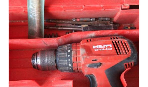 accu boormachine HILTI SF 6H-A22, 21,6v