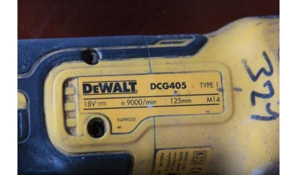 accu haakse slijptol DEWALT DCG405, 18v