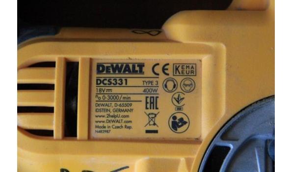 accu decoupeerzaag DEWALT DCS331, 400w