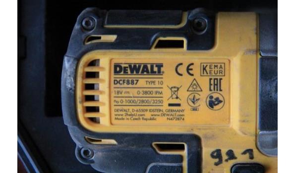 set accu boormachines DEWALTDCD796 en DCF887