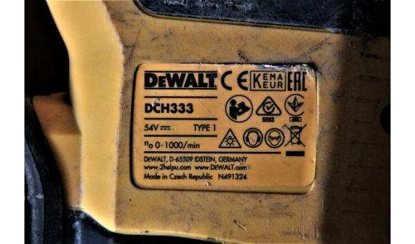 accu breekhamer DEWALT DCH333, 54v