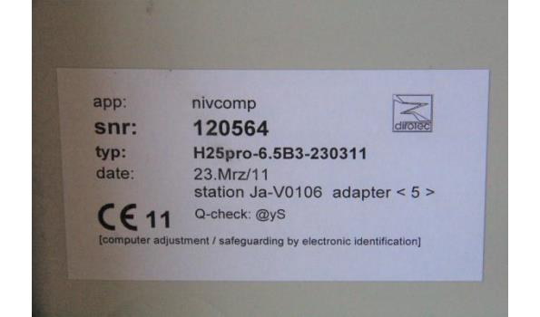 digitale waterpasdarm NIVCOMP H25pro, beriek 48m