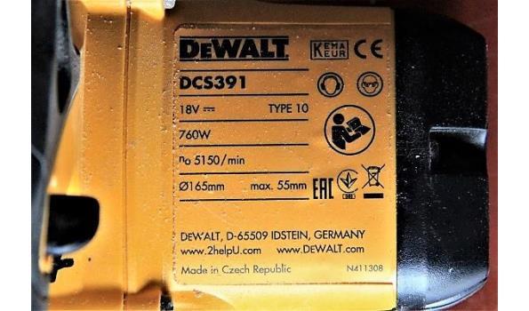 accu cirkelzaag DEWALT DCS391, 760w, 18v