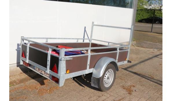 1-assige aanhangwagen ROVA AANHANGWAGENS, chassisnr YANL6EA7AGR056077, bj 2007, gvw 750kg