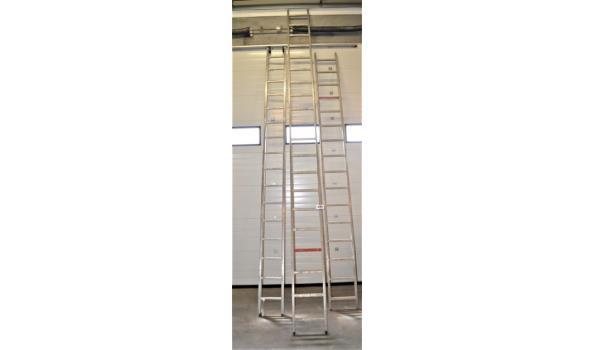 3 diverse alu ladders