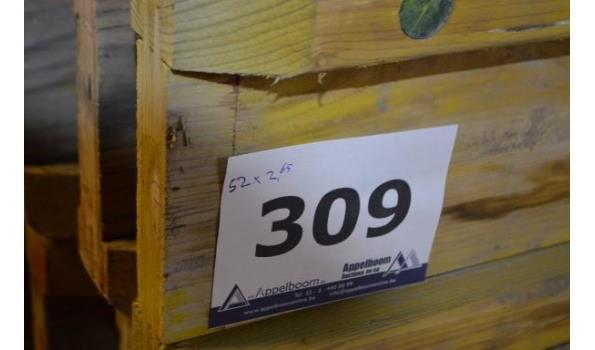 stalen bok inhoudende 52 bekistingsbalken DOKA H20, l 2,65m