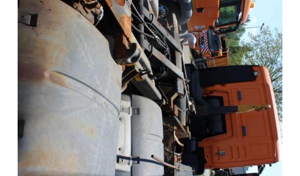 containervrachtwagen MAN TGS 26.360 6x4,diesel,10516cm³,264kW,1e inschr 12/8/09,chassisnr WMA26SZZ79P018443,km niet gekend-laatste stand volgens keuring 10/7/20: 172563km CO2-uitstoot: ng, EURO5,kenteken,gelijkvormigheidsattest,1sleutel,keuring tot 02/9/21
