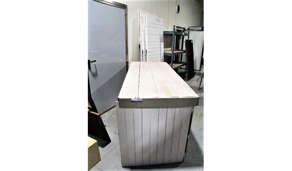 4 houten togen