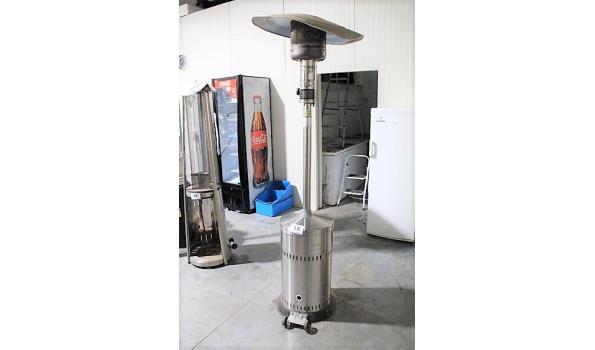 verrijdbare patioheater op gas, 13,5Kw