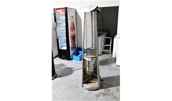 verrijdbare patioheater op gas