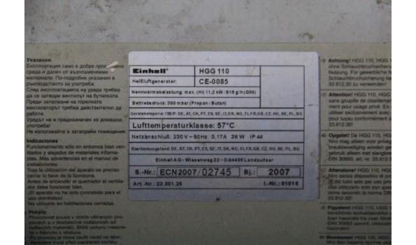 verwarmingselement op gas EINHELL HGG 110