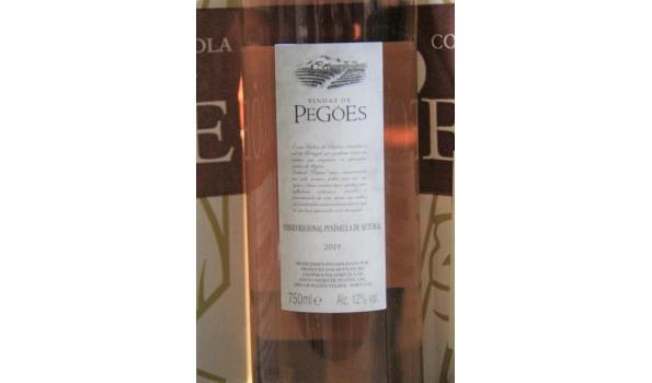 18 flessen rosé wijn  PEGOES 2019
