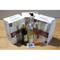 18 flessen diverse wijnen