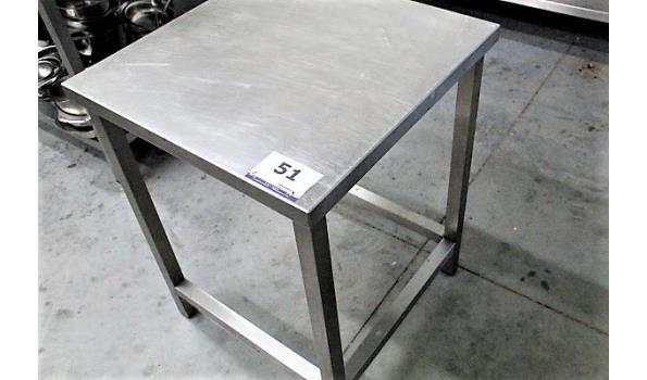 vierkante rvs werktafeltje 65x65x85