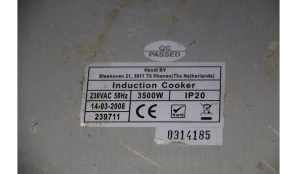 2 inductiekookplaten HENDI en TEVION
