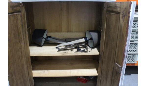 2-deurs houten opbergkast