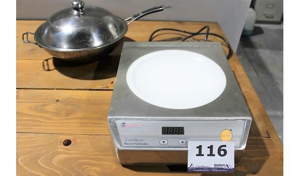 inductiekookplaat HENDI, 3100w, compleet met pan