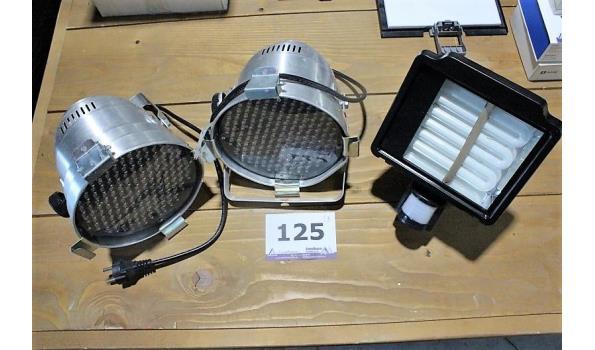 3 diverse lampen wo led