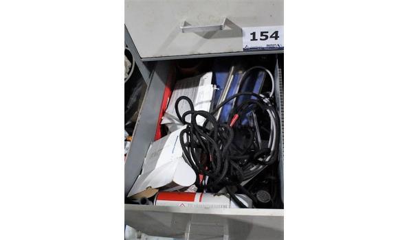 4-ladige stalen dossierskast met inhoud