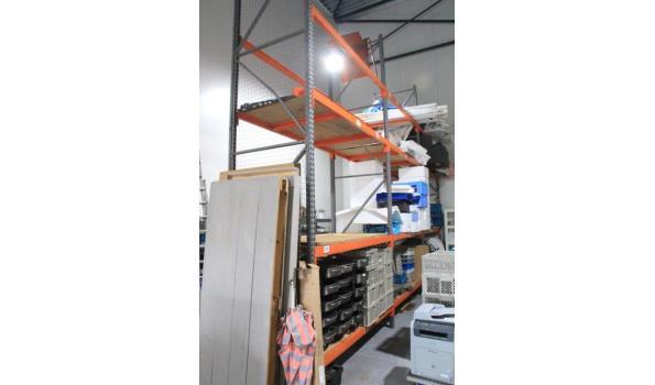pallettenopbergstelling, afm plm 750x500x110, vv 4 staanders en24 leggers