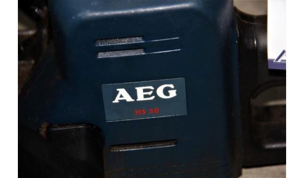 elektrische heggenschaar AEG, type HS 50 (004-319), werking niet gekend