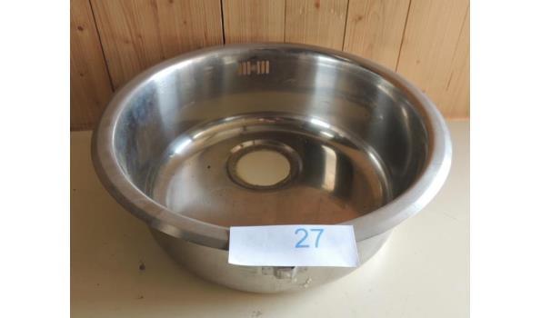 Inbouw Spoelbak diameter 42 H. 14