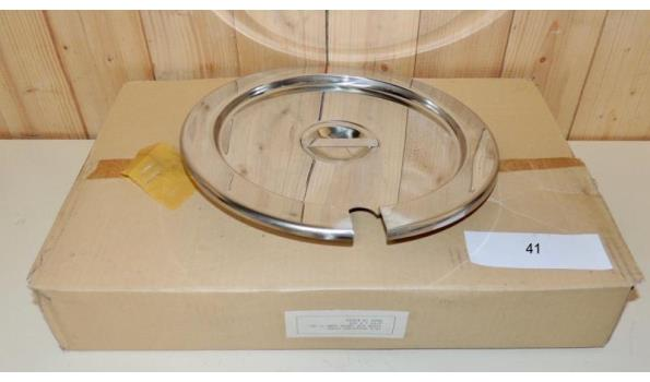 6 RVS deksels diameter 29cm