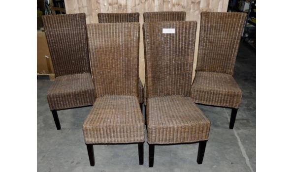 6 Rieten stoelen