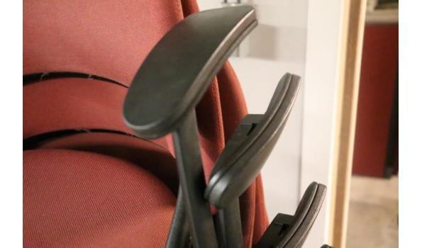 8 stapelbare stoelen, stof bekleed