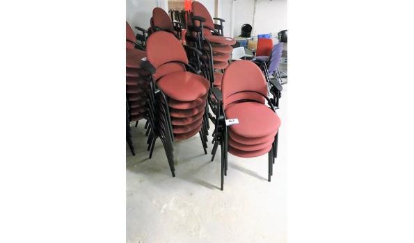 10 stapelbare stoelen, stof bekleed