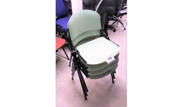 4 stapelbare stoelen, pvc zitting