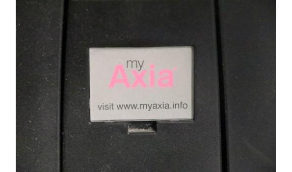 2 verr bureaustoelen, MY AXIA, zwarte stof bekleed